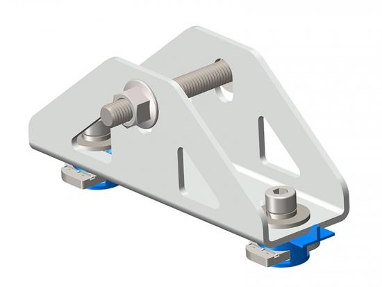 Solar PV triangle connector brackets